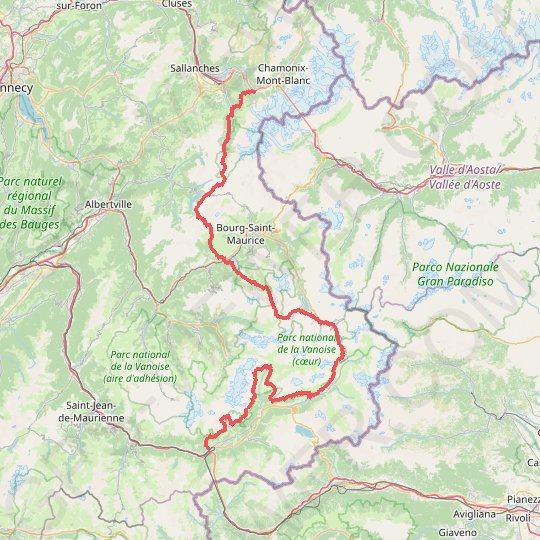 GR 5 - Les Houches - Modane GPS track, route, trail