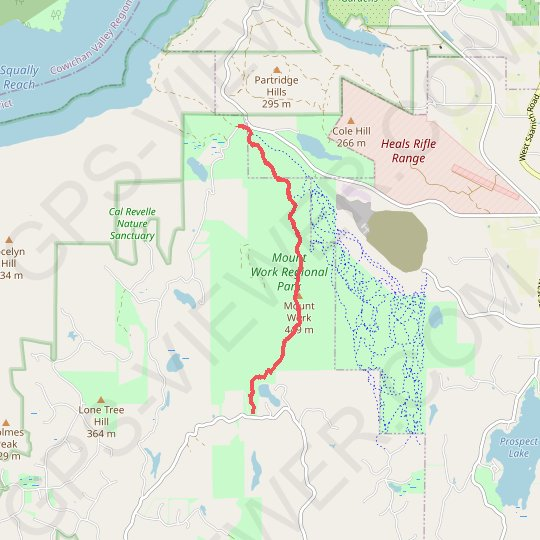 Mount Work Regional Trail GPS track, route, trail