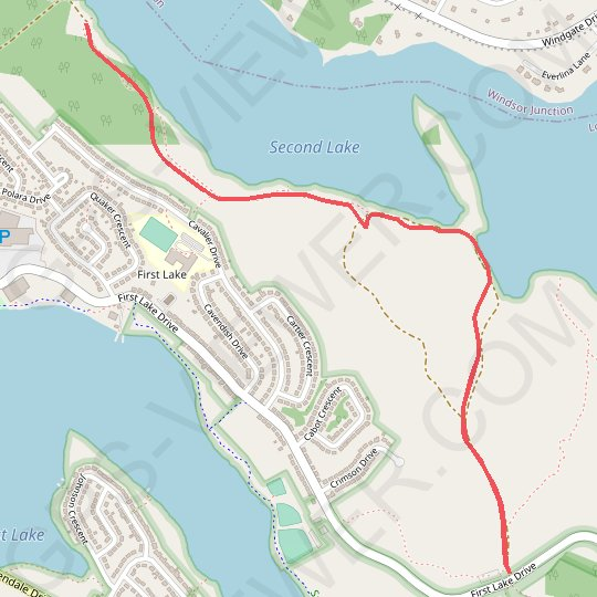 Sackville Second Lake GPS track, route, trail