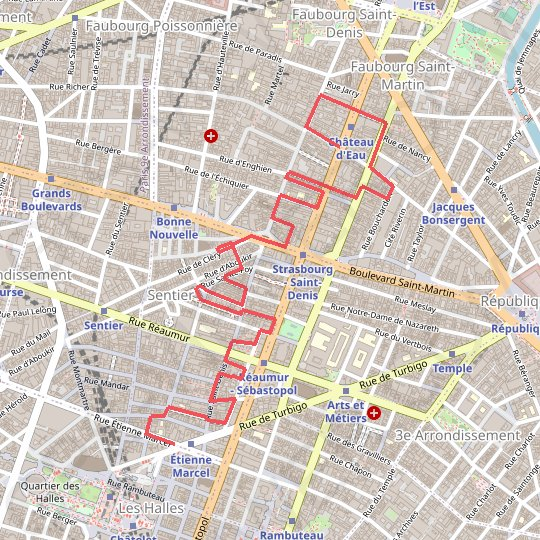 Les passages de Paris GPS track, route, trail