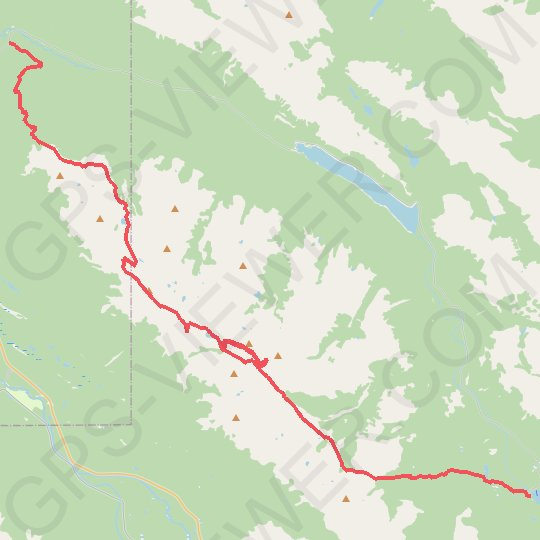 Jasper National Park - Skyline Trail GPS track, route, trail