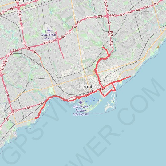 Toronto - Lower Don River Trail - Balmy Beach - Lakeshore Village GPS track, route, trail