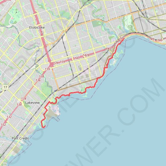 Toronto - Martin Goodman Trail - Waterfront Trail GPS track, route, trail