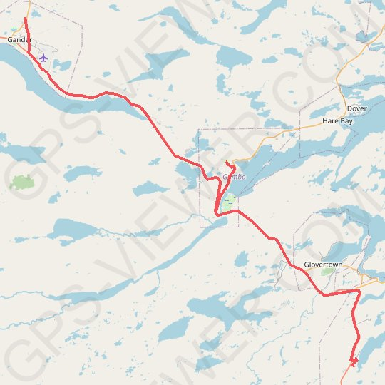 Gander - Mallorytown GPS track, route, trail