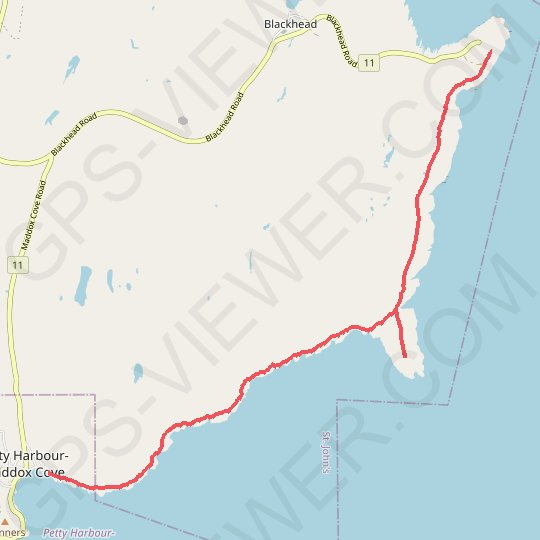 East Coast Trail - Cape Spear Path GPS track, route, trail
