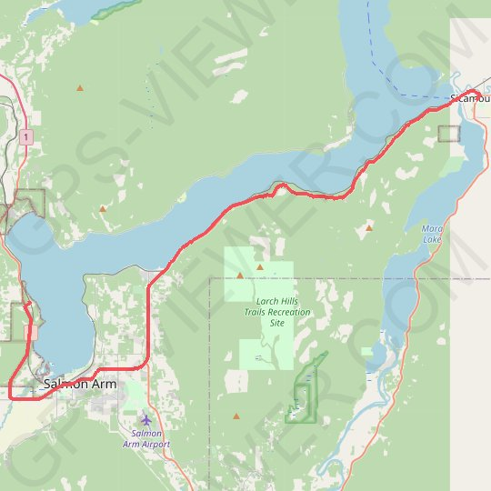 Salmon Arm - Sicamous GPS track, route, trail