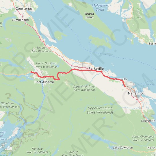 Sproat Lake - Nanaimo GPS track, route, trail