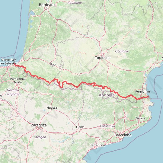 GR 10 GPS track, route, trail
