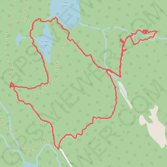 Showh Lakes GPS track, route, trail