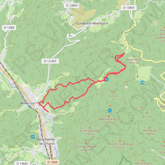 Depuis Willer GPS track, route, trail